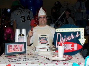 Driver's Drive-In Trunk or Treat by Piggy Bank Parties   Trunk or Treat Idea   Halloween Trunk or Treat   Turn your trunk into a Fifties Drive-in for Halloween!
