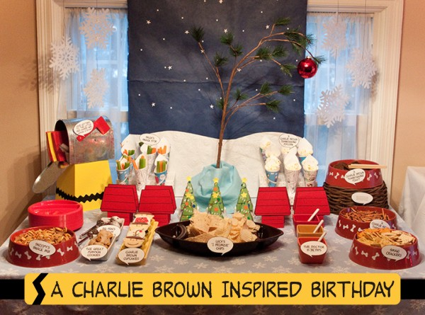 {real parties} a charlie brown inspired birthday
