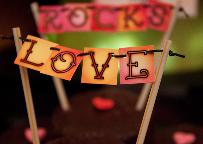 {inspiration party} the love rocks collection