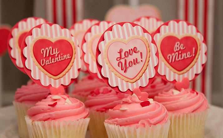 {inspiration party} sugar cookie valentines