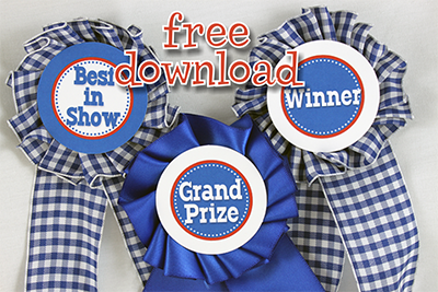 {tutorial} a prize winning blue ribbon