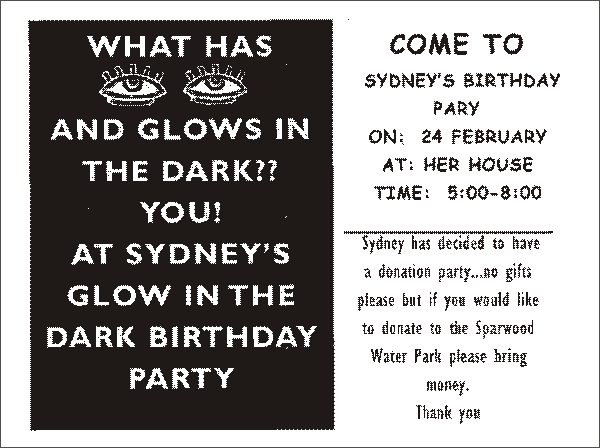 Inspiration glowing in the dark piggy bank parties blog we loved the wording stopboris Image collections