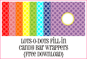 Lots-O-Dots Candy Bar Wrappers