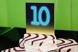 Glow in the Dark Cake Stakes