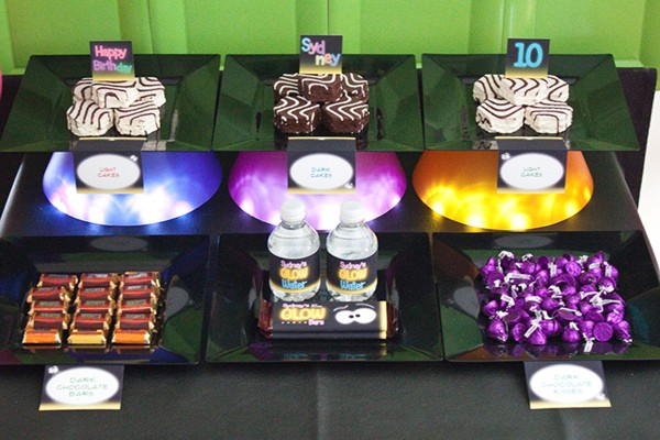 Glow In The Dark Candy Buffet Glow in the Dark Party