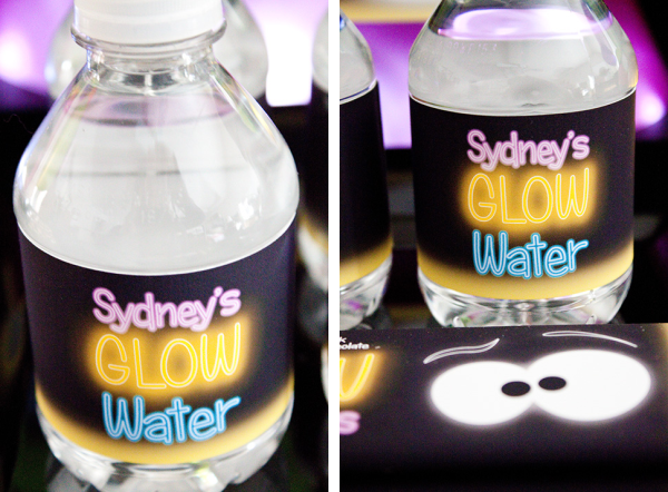 Glow in the Dark Water Bottle Labels