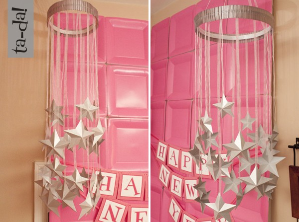 tutorial paper star chandelier Oink The Blog by Piggy Bank Parties – Party Chandeliers