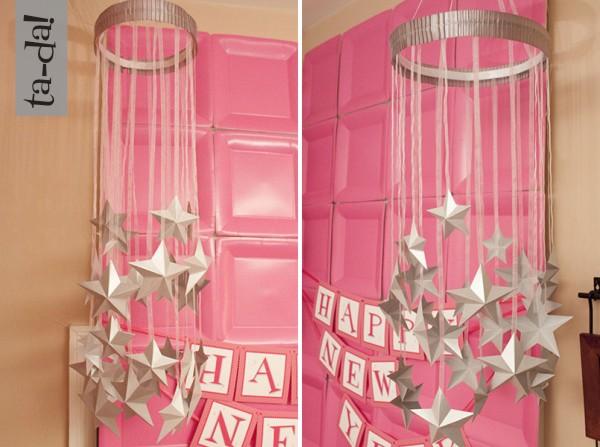 {tutorial} paper star chandelier