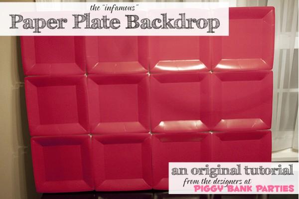 "{rootin' tutin' thursday} ""the"" paper plate backdrop tutorial"