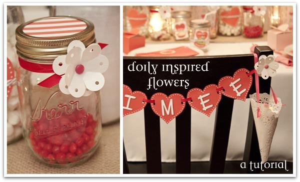 {rootin' tutin' thursday} doily inspired flowers