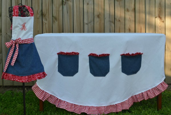 {challenge tutorial} diy pocketed tablecloth