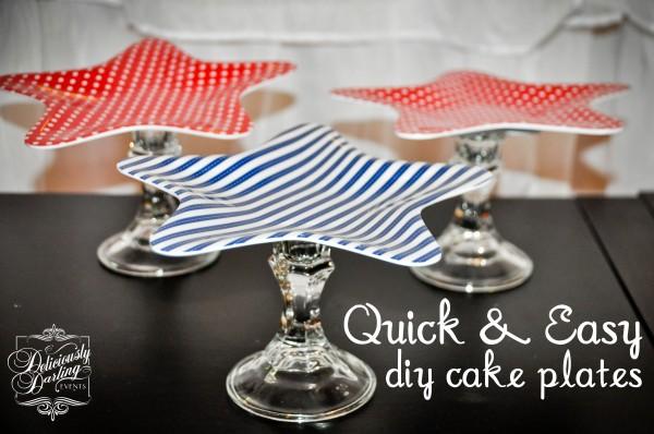 {silly sunday} diy cake plates