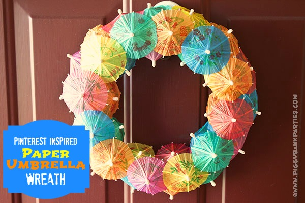 {rootin' tutin' thursday} paper umbrella wreath