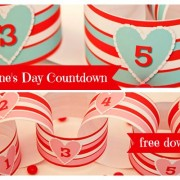 Piggy Bank Parties Valentines Countdown C