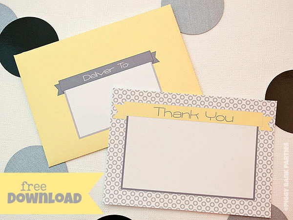 {free download} simply modern thank you notes