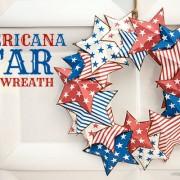 Piggy Bank Parties Americana Star Wreath