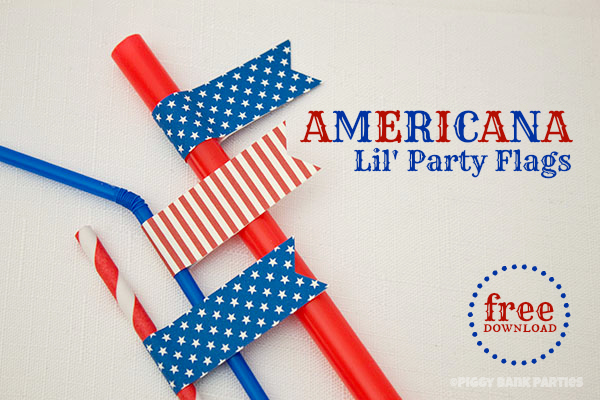 {free download} americana lil' party flags