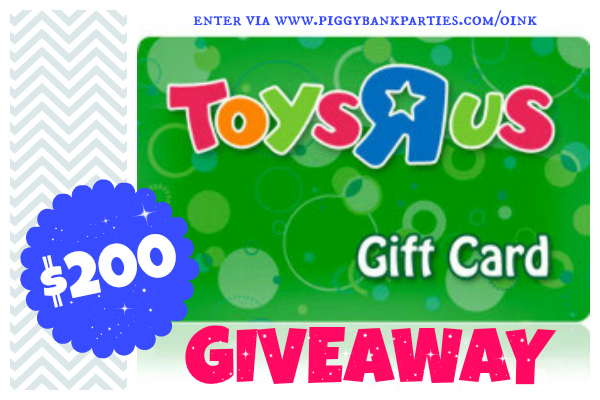 Toys R Us Gift Card : Giveaway toys quot r us gift card piggy bank parties
