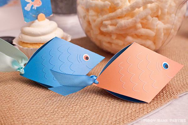 Piggy Bank Parties Fish Favor Box BO
