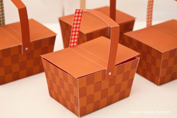Piggy Bank Parties Picnic Basket Favor Box