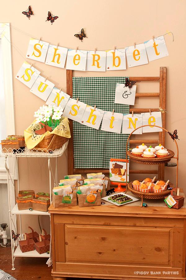 Piggy Bank Parties Sherbet-n-Sunshine Picnic 1