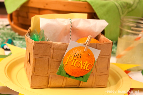 Piggy Bank Parties Sherbet-n-Sunshine Picnic 14B