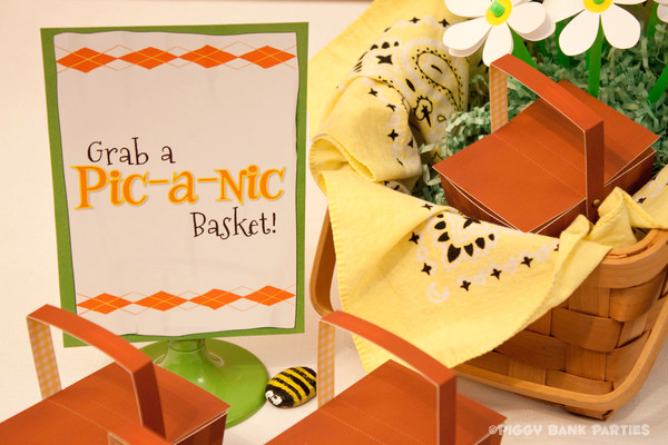 Piggy Bank Parties Sherbet-n-Sunshine Picnic 17B