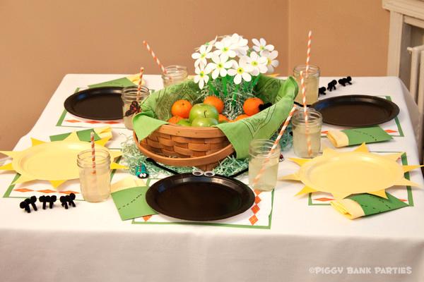 Piggy Bank Parties Sherbet-n-Sunshine Picnic 3