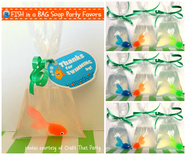 Craft That Party Fish in a Bag Soap Party Favor