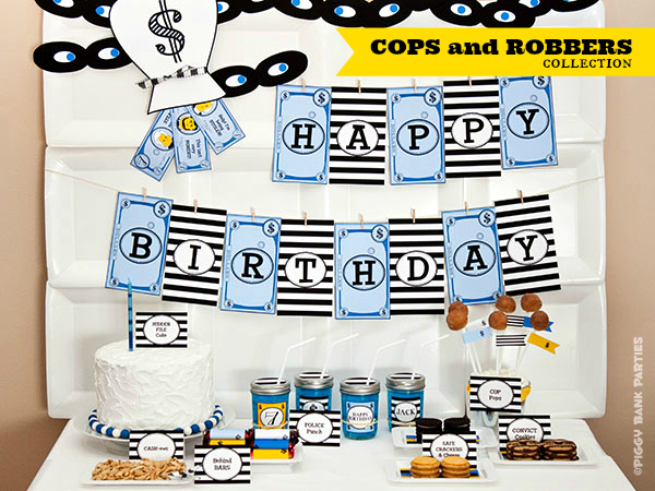 Piggy Bank Parties Cops and Robbers Collection-1