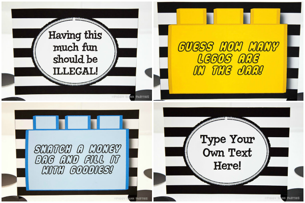 Piggy Bank Parties Cops and Robbers Party Signs