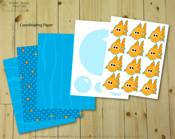 Piggy Bank Parties Goldfish Birthday Collection 3