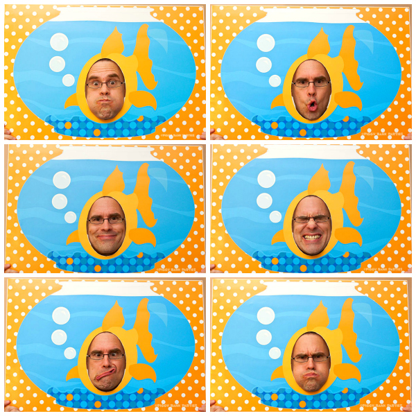 Piggy Bank Parties Goldfish Photo Booth Poster Collage