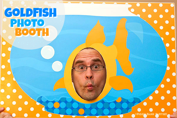 Piggy Bank Parties Goldfish Photo Booth Poster Graphic