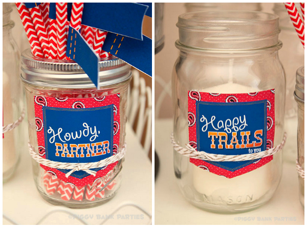 Piggy Bank Parties Happy Trails Collection Lil' Party Tags