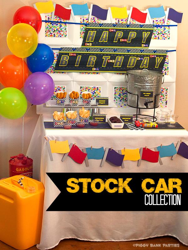 Piggy Bank Parties Stock Car Collection