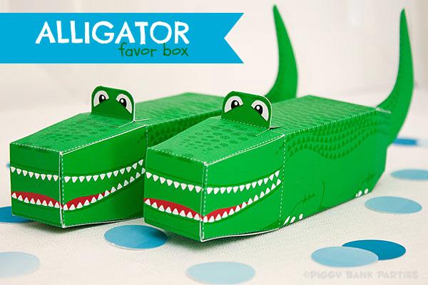 Piggy Bank Parties Alligator Favor Box2