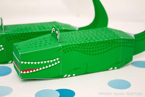 Piggy Bank Parties Alligator Favor Box5