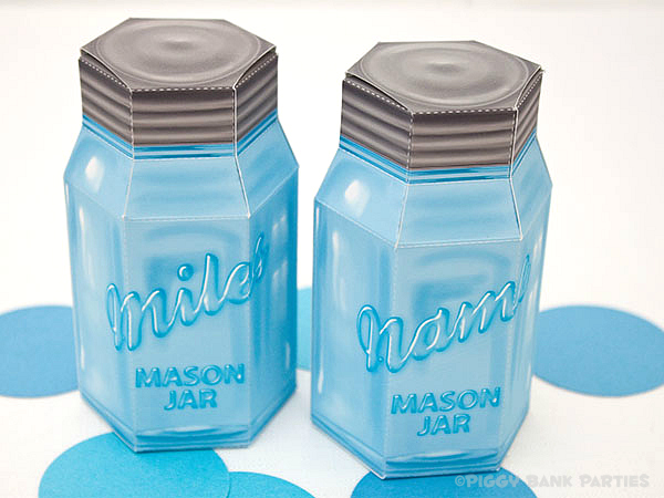Piggy Bank Parties Mason Jar Favor Box