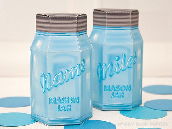 Piggy Bank Parties Mason Jar Favor Box1
