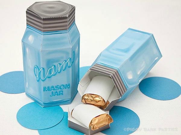 Piggy Bank Parties Mason Jar Favor Box2