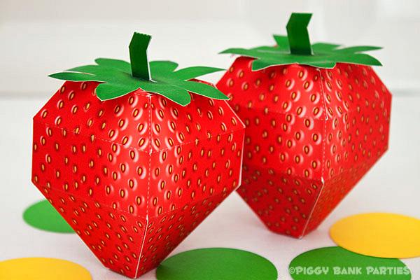 Piggy Bank Parties Strawberry Favor Box