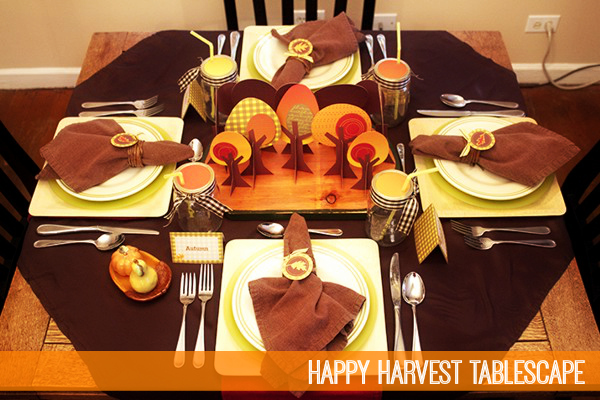 Happy Harvest Tablescape by Piggy Bank Parties