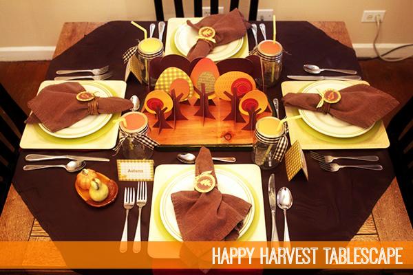 Happy Harvest Tablescape by Piggy Bank Parties