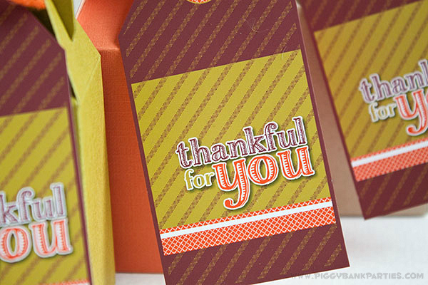Piggy Bank Parties Thankful For You Tags