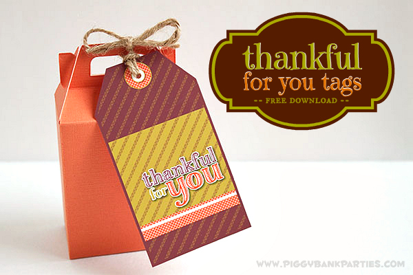 Piggy Bank Parties Thankful For You Tags4