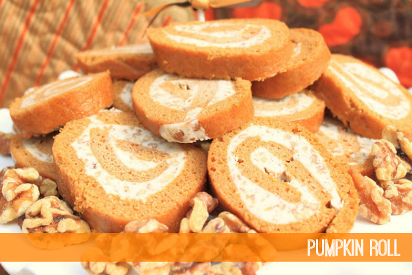 Pumpkin Roll by Giggles Galore