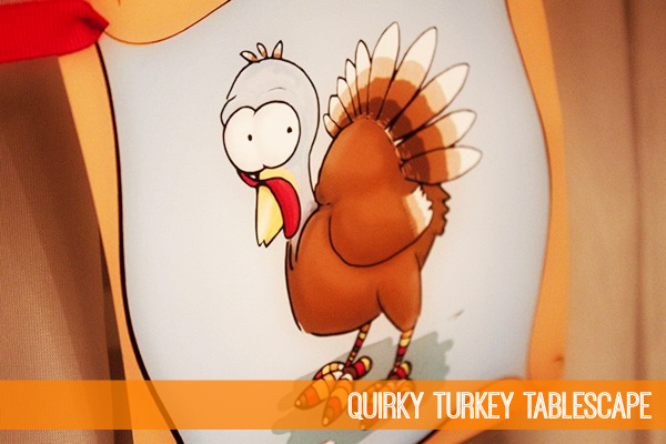 Quirky Turkey Tablescape by Piggy Bank Parties