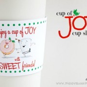 Piggy Bank Parties Cup of Joy Cup Sleeve