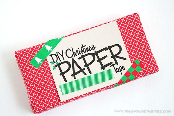Piggy Bank Parties DIY Christmas Paper Tape1